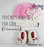 KIT Reguler: Baby Set for Girl Knitting Kit